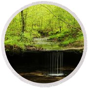 Pickle Spring In Missouri Round Beach Towel