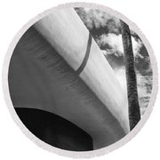 Piece Of The Sky  Bw Round Beach Towel