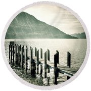Pier Round Beach Towel by Joana Kruse