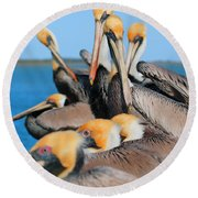 Pier Party Round Beach Towel
