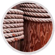 Pier Ropes Round Beach Towel