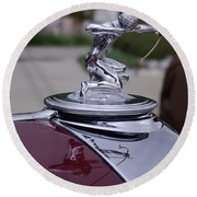 Pierce Arrow Hood Ornament Round Beach Towel
