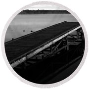 Piers Of Pleasure  Round Beach Towel