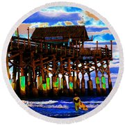 Pierscape Round Beach Towel