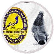 Pigeon Grand Bock Round Beach Towel