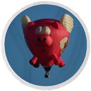 Pigs Do Fly Round Beach Towel