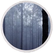Pine Trees In Cloud In The Forest Corona Round Beach Towel