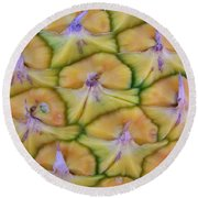 Pineapple Eyes Round Beach Towel