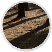 Pines Of Msu Round Beach Towel