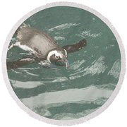 Pinguis Round Beach Towel
