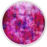Pink Blueberries Round Beach Towel