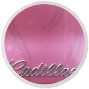 Pink Cadillac Round Beach Towel