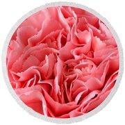 Pink Carnation Round Beach Towel