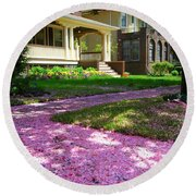 Pink Carpet Round Beach Towel