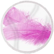 Pink Doubles Round Beach Towel