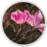 Pink Flower Tree Blossoms No. 247 Round Beach Towel