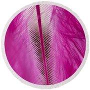 Pink Marabou Macro Round Beach Towel
