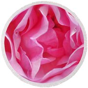 Pink March Rose 2012 Limited Edition Round Beach Towel