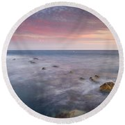 Pink Seasunset Round Beach Towel