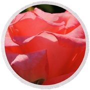 Pink Touch Of Class Petals Round Beach Towel
