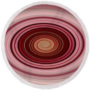 Pink Vortex Round Beach Towel