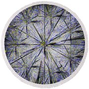 Pins And Needles Round Beach Towel
