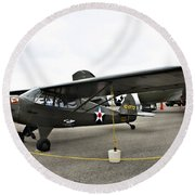 Piper L4 Grasshopper Usa Round Beach Towel