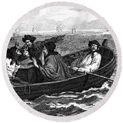 Pirates, 18th Century Round Beach Towel