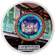 Pirates Alley Cafe Round Beach Towel by Bill Cannon