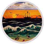 Pirate's Cove Round Beach Towel