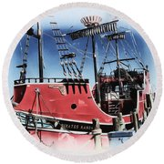 Pirates Ransom - Clearwater Florida Round Beach Towel