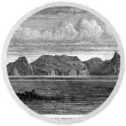 Pitcairn Island, 1879 Round Beach Towel