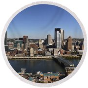 Pittsburgh Panoramic Round Beach Towel