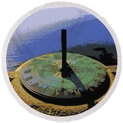 Place Time Dimension Round Beach Towel
