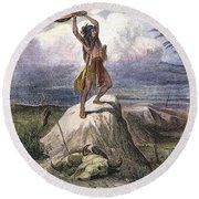 Plains Native American: Signal, 1873 Round Beach Towel