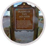 Plains Of San Agustin Round Beach Towel