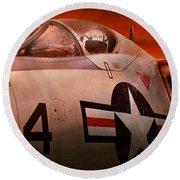 Plane - Pilot - Airforce - Go Get Em Tiger  Round Beach Towel