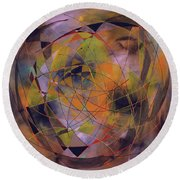 Planet Perspectives Round Beach Towel