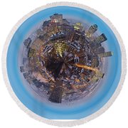 Planet Wee Montreal Quebec Round Beach Towel
