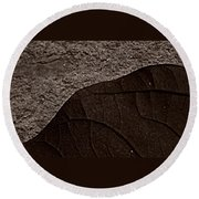 Plant And Mineral Round Beach Towel