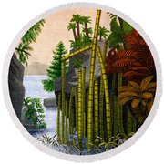 Plants Of The Triassic Period Round Beach Towel