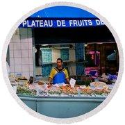 Plateau De Fruits De Mer Round Beach Towel