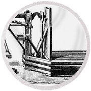Platform Scale, C1900 Round Beach Towel