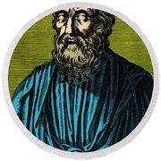 Plato, Ancient Greek Philosopher Round Beach Towel