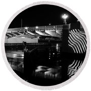 Platt Street Bridge 1926 Round Beach Towel
