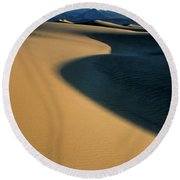 Play Of Light And Shadow Round Beach Towel