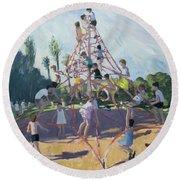 Playground Round Beach Towel by Andrew Macara