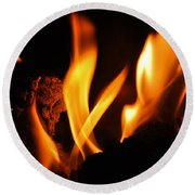 Playing With Fire I Round Beach Towel