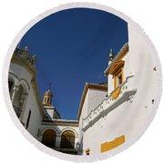 Plaza De Toros De La Real Maestranza - Seville Round Beach Towel