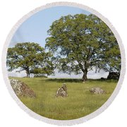 Pleasant Hillside Round Beach Towel